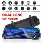 New 1080P H01A 10 Inch Touch Dual Lens Streaming Media Driving Recorder Car DVR