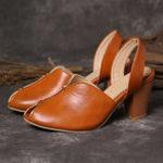 New Women Fashion Soft Fish Mouth Heeled Sandals