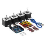 New TWO TREES® CNC Shield + UNO R3 Board +4x A4988 Stepper Motor Driver +4x 4401 Stepper Motor Kit for 3D Printer