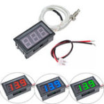 New XH-B310 Digital Tube LED Display Thermometer 12V Temperature Meter K-type M6 Thread Thermocouple Tester -30~800C Thermograph