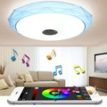 New 40cm 24W LED Ceiling Light RGB Dimmable With APP Control bluetooth Speaker Music