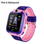New Bakeey Q12 Waterproof Kids Smart Watch Phone Front-facing Camera SOS Call Safety Zone Alarm