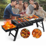New 3-5 People Outdoor Portable Folding BBQ Grill Charcoal Barbecue Cooking Stove Camping Picnic