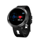 New Bakeey M58 Stainless Steel Shell IP68 Waterproof Heart Rate Detection Message Vibration Multi-language Smart Watch