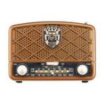 New Retro AM 513-1629KHz SW FM 87-108MHz Radio AUX USB TF Card bluetooth Speaker MP3 Player