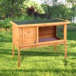 New Wooden Rabbit Hutch Waterproof Indoor Outdoor Rabbit House Chicken Coop Hen House Poultry Pet Cage Bed