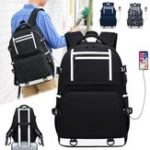 New Oxford Cloth Waterproof Laptop Bag Backpack Travel Bag With External USB Charging Port