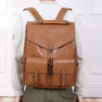 New Ekphero  Men Casual Multifunction Large Solid Backpack