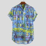 New Mens Summer Cotton Funny Printed Hawaiian Shirts