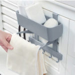 New 5 Hooks Kitchen Storage Rack Cupboard Hanging Hook Shelf Bathroom Organizer Hanger for Clothes Cabinet Draw Door Space Saver