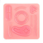 New Medical Suture Training Kit Human Traumatic Skin Model Suturing Practice Training
