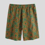 New Mens Summer Funny Printed Elastic Wasit Casual Shorts