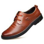 New Genuine Leather Breathable Hollow Out Business Oxfords