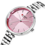 New CURREN 9043 Simple Style Stainless Steel Ladies Wrist Watch