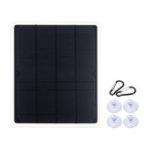 New 10W 12V 600mA 210*175*2.5mm Monocrystalline Semi-flexible Solar Panel + Crocodile Clip Cable + 2xCarabiner Set Kit with Single USB+ Rear Junction Box