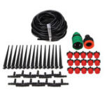 New 47PCS Drip Irrigation Greenhouse Garden Plant Watering System Hose Kits Adjusted