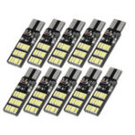New 10PCS T10 W5W 30SMD LED Car Side Marker Lights Wedge Bulb Lamp with 3 Flash Modes 6W 240LM White