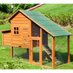New TOPMAX Pet Rabbit Hutch Wooden House Chicken Coop for Animals House Pet Bed