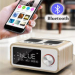 New LOCI H3 Bluetooth Speaker Alarm Clock Media Audio Music Clock Radio USB Charging MP3 Player Remote Control