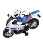 New 2.4G Rotate 360° RC Car MotorCycle Vehicle Model Children Toys With Music