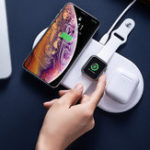 New Baseus 3 in 1 Charging Pad Wireless Charger For iPhone X XS MAX XR 8 for Airpods 2019 Apple Watch 4 3 2