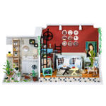 New iiecreate H-003 The Girl Of The Old Time Lane DIY Dollhouse With Music Cover Light Wooden Doll House Gift