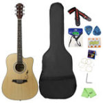 New IRIN 41 Inch Corner Horn Acoustic Guitar For Beginners With Guitar Bag/Pick/Strap/Pipe /Wrench/Cloth/Capo