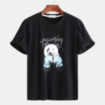 New Mens Panda Printing Summer Casual T-shirts Plus Size Tees