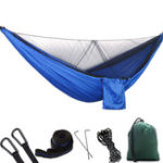 New 1-2 Person Portable Outdoor Camping Hammock with Mosquito Net High Strength Parachute Fabric Hanging Bed Hunting Sleeping Swing
