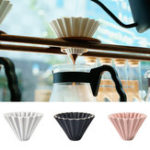 New 1PC Ceramics Origami Sytle V60 Filter Cup Coffee Dripper 1-2cups For Barista Ceramic Filter Cup