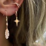 New Bohemian Gold Alloy 3 Pieces Earring Set