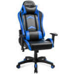 New ModernLuxe Office Chair Racing Gaming Chair PU Leather Swivel Computer Chair Adjustable Height Rotating Lift Chair Reclining Folding Chair