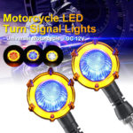 New 12V Motorcycle LED Flowing Turn Signal Work Light Lamp Universal