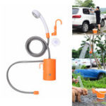 New IPRee® Outdoor Electric Shower Nozzle Sprinkler Self-priming Water Pump Car Clean Camping Travel