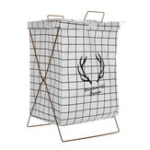New Laundry Washing Dirty Clothes Basket Bin Foldable Storage Bag Hamper Iron Stand