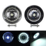 New Black / Chrome LED Motorcycle Bullet Headlights High/Low Beam Head Light Lamp
