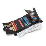 New Men Genuine Leather Retro Multi-card Slots Bifold Wallet