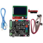 New MKS BASE V1.6 Integrated Motherboard with 12864 LCD Screen Kit for 3D Printer