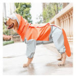 New All-inclusive Dogs Raincoat Four-legged Waterproof Outdoor Dogs Raincoat For Samoyed/ Golden Retriever /Border Terrier /Labrador Medium Large Size Dogs