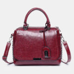 New Women Rivet Retro Leisure Handbag PU Leather Crossbody Bag