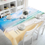 New 3D Sky Beach 5 Tablecloth Table Cover Cloth Birthday Party Event Decorations