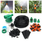 New 122Pcs Automatic Drip Irrigation DIY Watering System Sprinkler Electronic Control Timer Garden Hose 25M