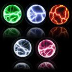 New Colorful Plasma Disk Fancy Mini Pocket Plasma Disk Sensor Light Plate Home Disco Party Decoration PVC&Glass Performance