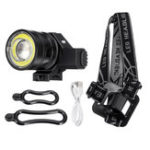 New 50000LM T6 COB LED Rechargeable Headlamp Zoomable Bike Bicycle Head Light Lamp