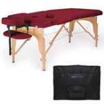 New Saloniture Professional Portable Folding Massage Table with Carrying Case – Black/Blue/Wine Red