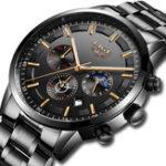 New LIGE 9877 Business Style Waterproof Men Wrist Watch