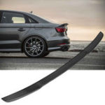 New Full Carbon Fiber Rear Trunk Car Spoiler Wing For 14-18 Audi A3 S3 RS3 Sedan V Type 4Door