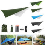 New Outdoor Tent Sunshade Portable Hammock Rain Fly Waterproof Tent Tarp Camping Backpacking Tarp