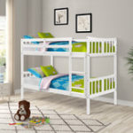 New Children Bedroome Twin Over Twin Bunk Bed Wooden Double Bed with Ladder