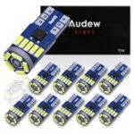 New AUDEW 10PCS 4014 SMD T10 W5W LED Side Wedge Marker Lights CANBUS Error Free 12V 6712K White